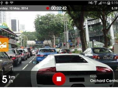 Orange Eye –Detecting app for accident of cars