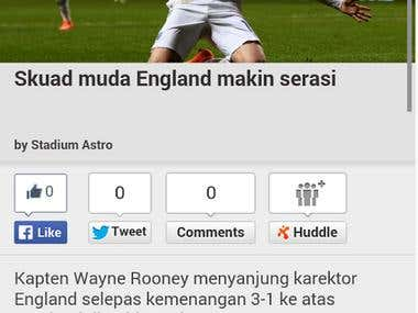 Stadium Astro - Sports news and game match TV app