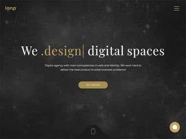 Lanp React Website