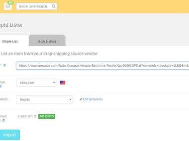 Ebay Listing Using DSM Tool