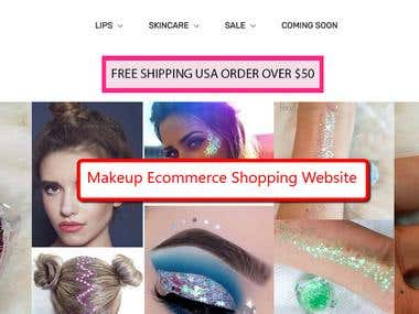 Makeup Shopping Website