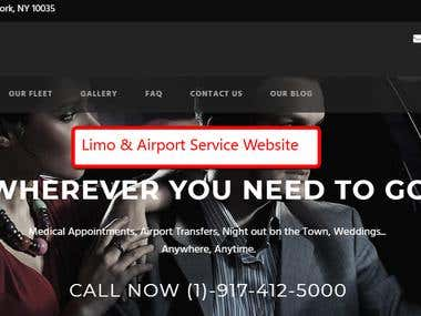 Airport and Limousine Website