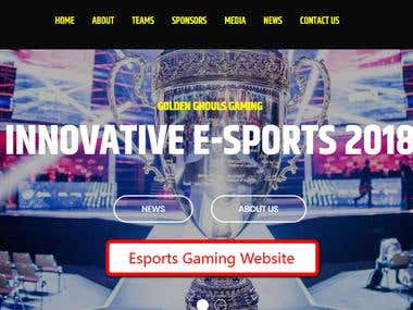 Gaming Website Esports