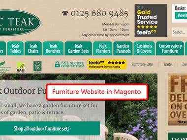 Furniture Selling Magento Website