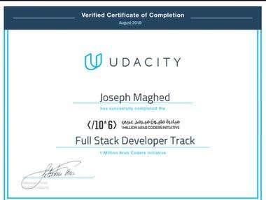 Udacity certification