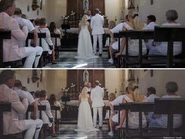 Wedding Otivar before-after 1