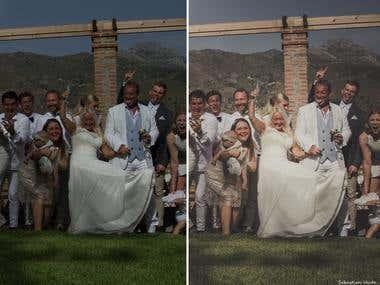 Wedding Otivar before-after 2