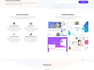 Udvas - personal portfolio HTML template.