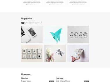 AR- personal portfolio HTML template.
