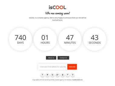 isCOOL- coming soon HTML template.