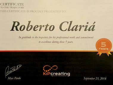 5 Years certificate