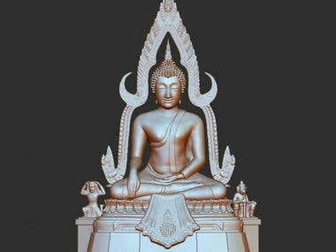 Buddha Statue for Printing