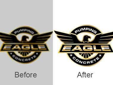 Convert logo JPEG to EPS