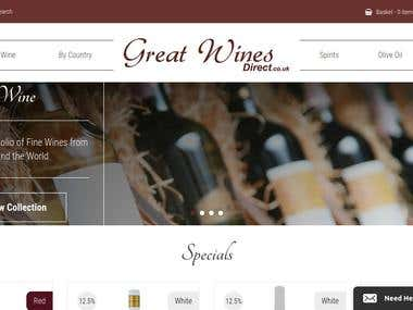 GreatWines- Unvium API Integration-Opencart