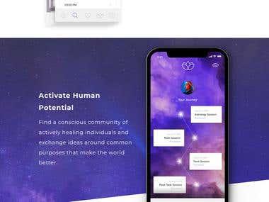 iAscend App - Landing page design