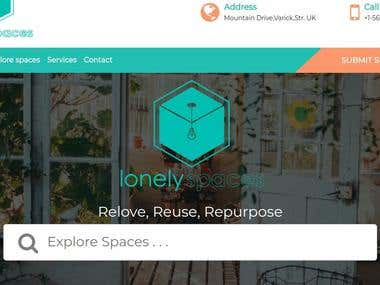 Lonelyspaces- Web & Mobile development project
