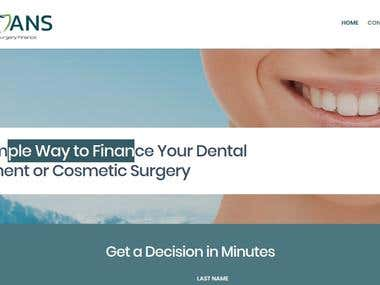 Mediloans- Wordpress- Dental and surgery loan website
