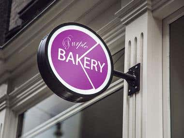 Logo Designed for Purple Bakery
