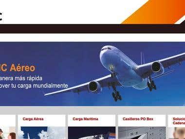 AMC Courier. Landing page y sistema de tracking de paquetes.