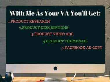 WHAT YOU CAN GET FROM ME IF YOU HIRE MY AS YOUR SHOPIFY VA!