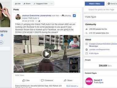 Managing Facebook page