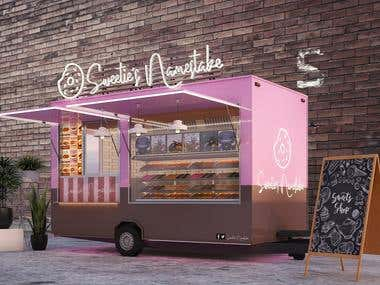 Design and Visualization of a Desserts Trailer