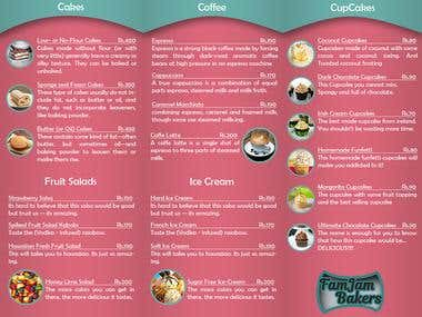 Icecream Shop Menu