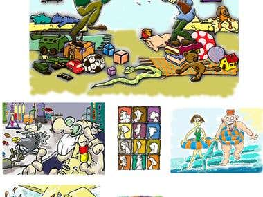 Selection of cartoons