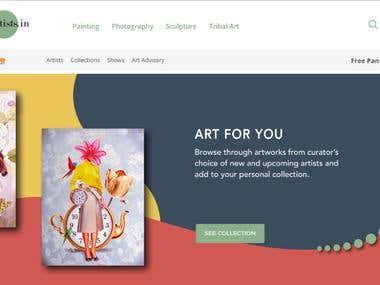 Emerging Artist - Ecommerce Website