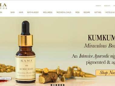 kamaayurveda - Ecommerce website