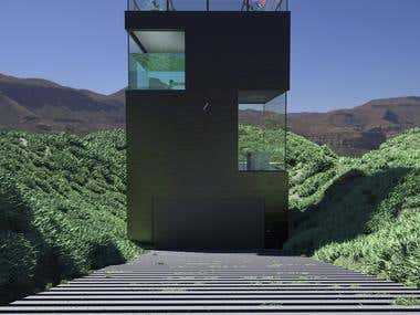 3d architecture visualisation Mountain House