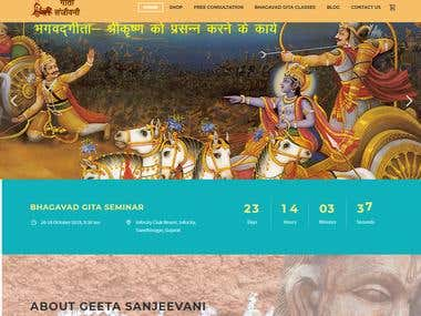 Gita Sanjeevni - Redesign - Wordpress