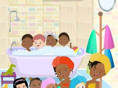 Rub a Dub Dub: Counting by 2's Children's Book