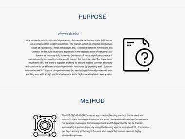 html5 webpage