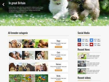 animal breed page design