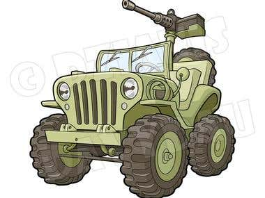 Cool Willys Jeep illustration