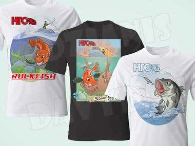 Illustrations for T-shirts
