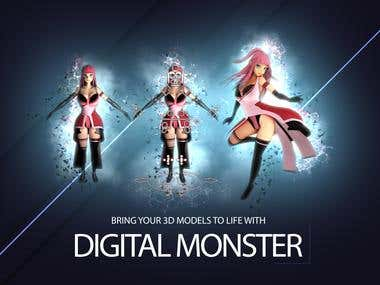Bring your 3D models to life with digital Monster
