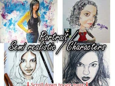 Portrait / Semi realistic / Characters