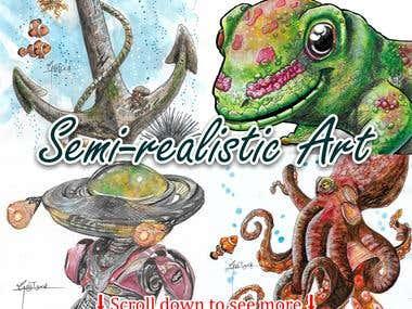 Semi-realistic illustrations