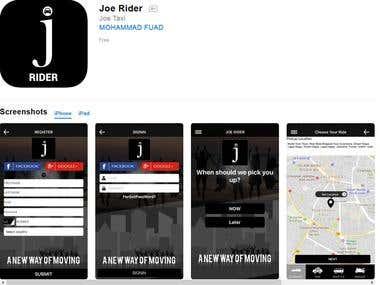 Joe Taxi:- Rider & Driver
