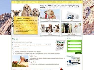 Camp Dog Pet Care Layout Design
