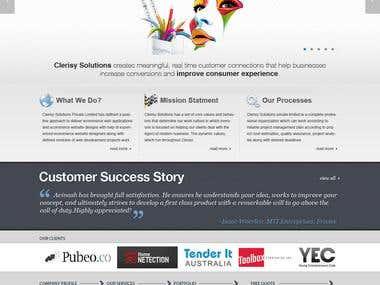 Corporate web site design