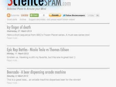 Website - www.sciencespam.com