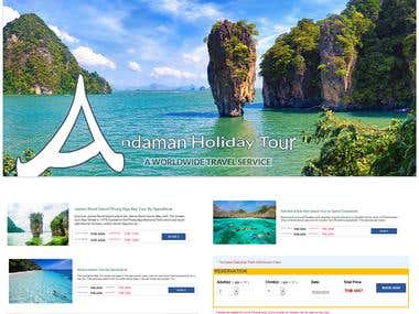 Online Booking Website with Check out