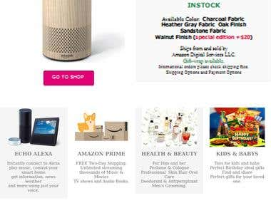 Shopping and Marketing Website