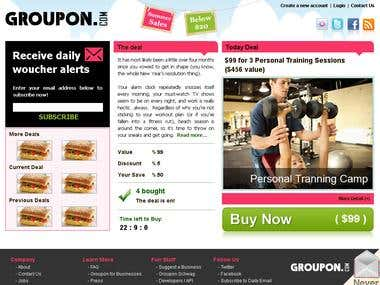 GroupOn Clone Development