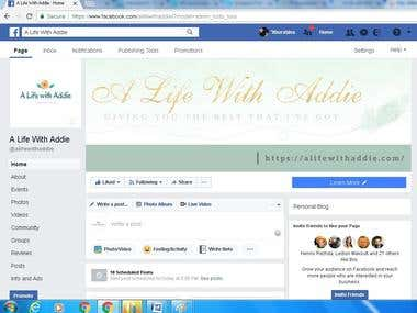 The first step of a Blogging fun page on Facebook