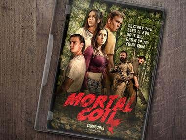 "Horror Movie Poster ""Mortal Coil"""