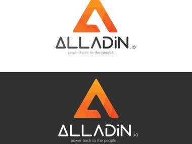 Logo - Alladin.io, a multi crypto exchange